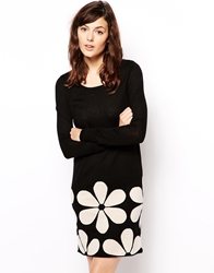 Orla Kiely Dress In Snowdrop Intarsia Blackcream