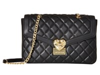 Love Moschino Quilted Shoulder Bag With Chain Black Shoulder Handbags
