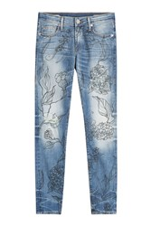 True Religion Halle Jeans With Floral Print Gr. 30
