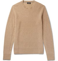 Rag And Bone Kaden Ribbed Cashmere Sweater Camel