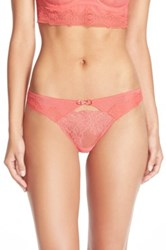 Passionata 'Blossom' Lace Keyhole Thong Red