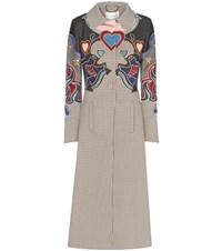 Mary Katrantzou Oliver Applique Houndstooth Coat Multicoloured