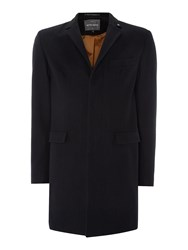 Peter Werth Melton Cropley Topcoat Navy