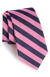 Gitman Brothers Vintage Men's Gitman Stripe Silk Tie Pink
