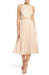 Ali And Jay Women's Sequin Embellished Two Piece Dress Blush