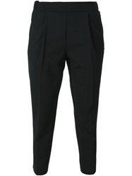 Erika Cavallini Semi Couture Tapered Trousers Black
