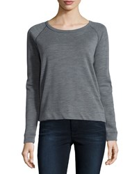 James Perse Long Sleeve Raglan Pullover Sweater Tempest