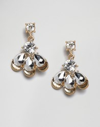 Little Mistress Crystal Drop Earrings Gold