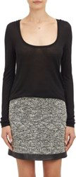 Atm Anthony Thomas Melillo Women's Sweetheart Long Sleeve Tee Black