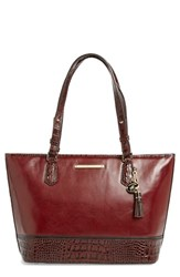 Brahmin 'Medium Asher' Leather Tote Burgundy Malbec
