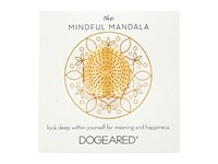 Dogeared Mindful Mandala Center Square Ring Gold Dipped Ring