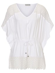 Betty And Co. Crochet Tunic Bright White