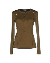 Tom Ford Topwear T Shirts Women Military Green
