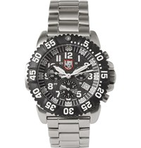 Luminox Colourmark 3182 Stainless Steel Chronograph Watch Silver