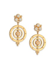 Temple St. Clair Celestial Diamond And 18K Yellow Gold Piccolo Tolomeo Drop Earrings