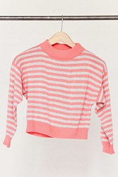 Urban Renewal Vintage Cropped Pink Striped Sweater Assorted