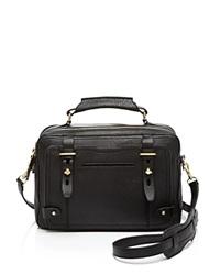 Etienne Aigner Satchel Pebbled Stag Black