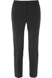 Alberta Ferretti Sequin Embellished Crepe Straight Leg Pants Black