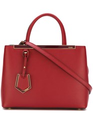 Fendi Small '2Jours' Tote Red