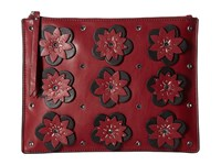 French Connection Lynn Clutch Berry Red Clutch Handbags