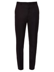 Lanvin Slim Fitting Dropped Crotch Wool Trousers Navy