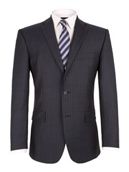 Pierre Cardin Sharkskin Stripe Jacket Blue