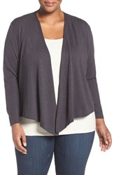 Nic Zoe Plus Size Women's '4 Way' Convertible Cotton Blend Cardigan Japanese Violet