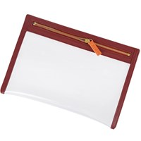 Stow Clear View Travel Pouch Organiser Red