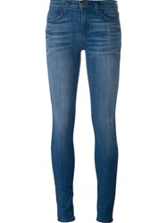Current Elliott Stonewash Skinny Jeans Blue