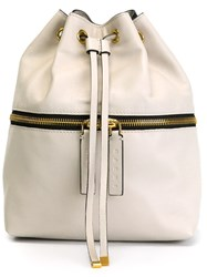 Marni Drawstring Fastening Backpack Grey