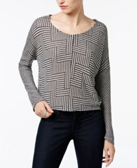 Bar Iii Printed Top Only At Macy's Charcoal