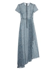 Jonathan Saunders Nicole Dot Print Silk Maxi Dress