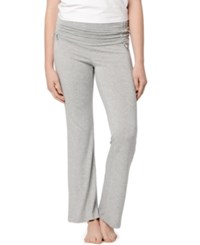 A Pea In The Pod Maternity Ruched Pajama Pants Heather Grey
