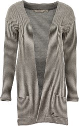 Garcia Striped Cardigan White