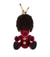 Burberry Shoes And Accessories Thomas Check Beefeater Bear Keyring Female Bright Red
