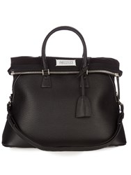 Maison Martin Margiela 5Ac Grained Leather Tote Black