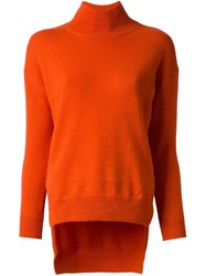 Cedric Charlier High Low Sweater Yellow And Orange