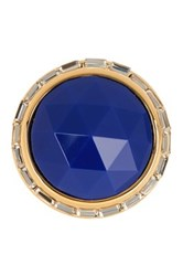 Trina Turk Domed Stone Bezel Set Crystal Ring Blue