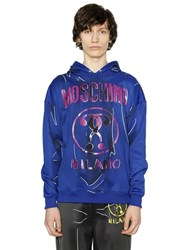 Moschino Hooded Shadow Cotton Blend Sweatshirt