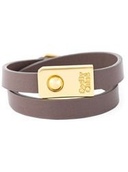 See By Chloe Double Wrap Bracelet Grey