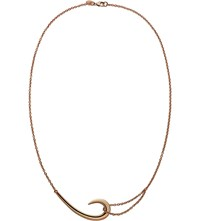 Shaun Leane Sterling Silver And Rose Gold Vermeil Hook Necklace
