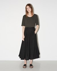 Black Crane Wrap Skirt Black