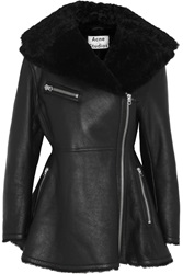 Acne Studios Muse Shearling Jacket Black
