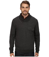 Pendleton L S Shawl Collar Board Pullover Black Heather Men's Long Sleeve Pullover