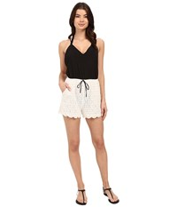 6 Shore Road Malay Lace Romper Cover Up Black Rock Women's Jumpsuit And Rompers One Piece