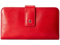 Bosca Old Leather Checkbook Clutch Red Wallet