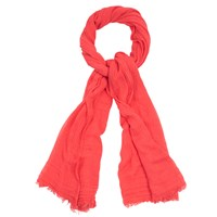 Oasis Soft Crinkle Plain Scarf Coral