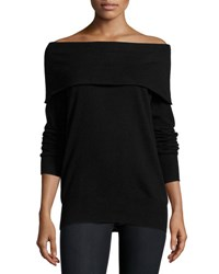 Christopher Fischer Cashmere Off The Shoulder Sweater Black