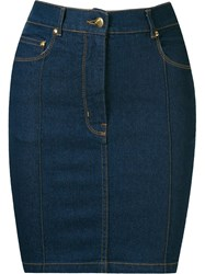 Amapa High Waisted Denim Skirt Blue