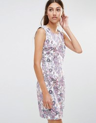 Lavand Floral Shift Dress Pink Multi